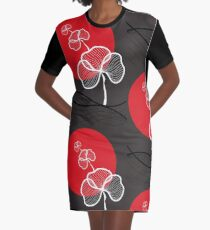Trio In Red Dusk Graphic T-Shirt Dress