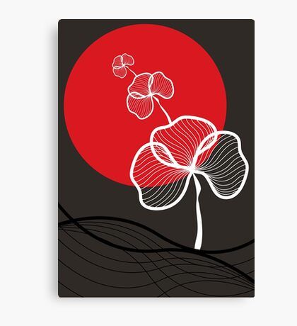 Trio In Red Dusk Canvas Print