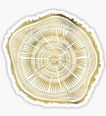 Paper Birch – Gold Tree Rings Sticker