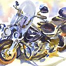 Harley in Watercolor by KipDeVore