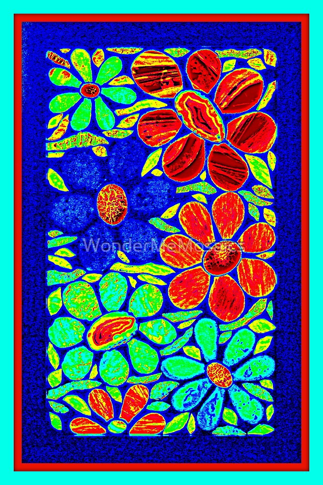 Stained Glass Garden - Mosaic Art by WonderMeMosaics