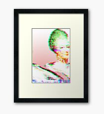 Pink Marie Glitch Framed Print