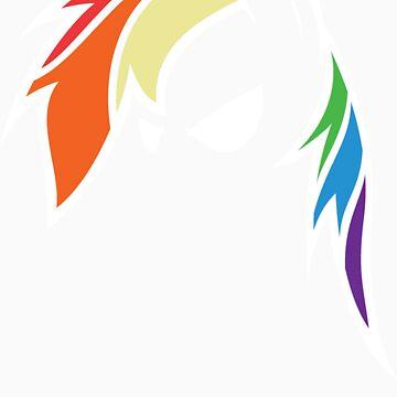 QQwich's Rainbow Dash Redux (Full White Edit) by Jarzek