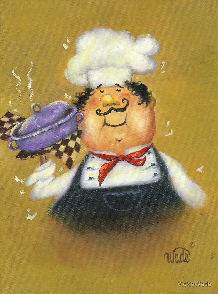 PURPLE POT CHEF by VickieWade