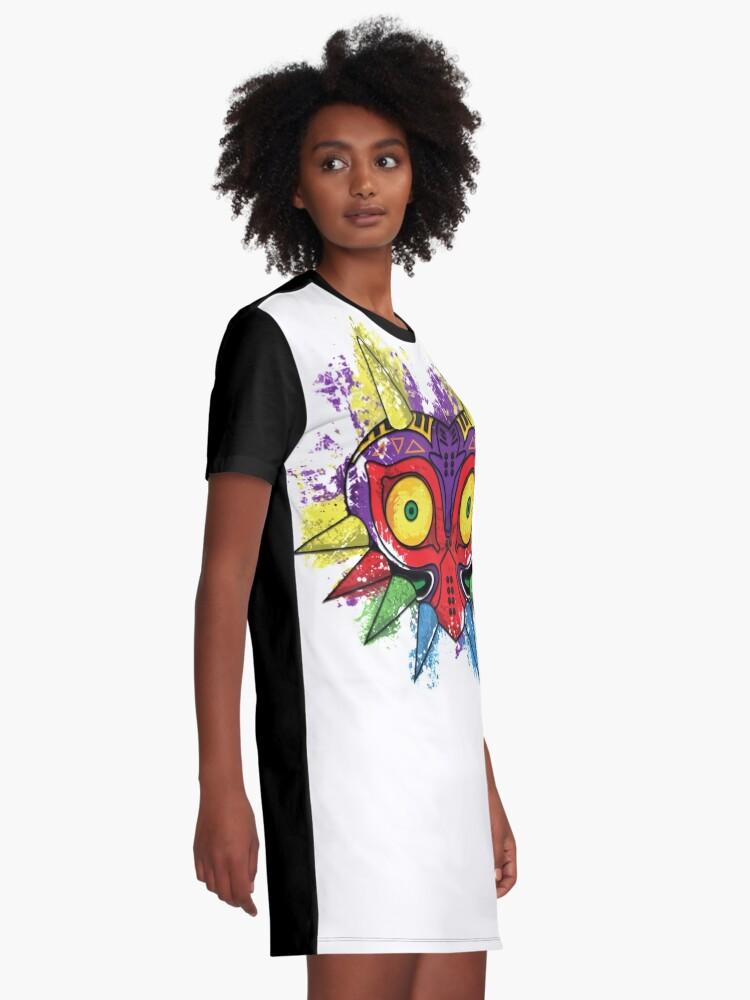 Vista alternativa de Vestido camiseta MÁSCARA DE MAJORA