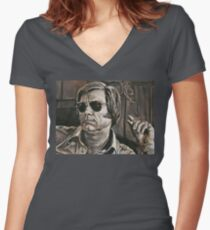 George Jones Women's Fitted V-Neck T-Shirt