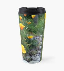 Golden light shining collage Travel Mug