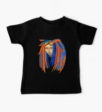 Cybergoth Girl in Contrasting Blue and Orange Kids Clothes