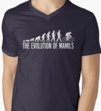 Cycling MAMIL Evolution Men's V-Neck T-Shirt