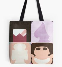 Minimalist Crystal Gems Tote Bag