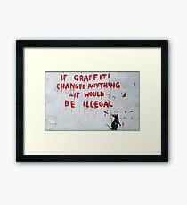 Rat crimes Framed Print