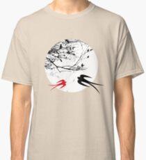 Oriental Swallows In Moonlight  Classic T-Shirt