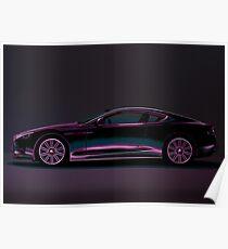 Aston Martin DBS V12 Painting Poster