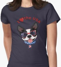 Love the USA Womens Fitted T-Shirt