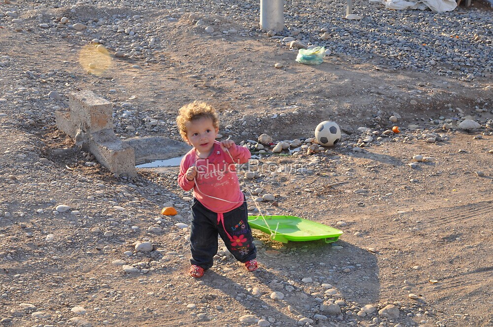 Child and Toy II - Qustapa_Syrian Refugee Camp_Arbil-KRG I_15-3-2014 by ChuckBrown