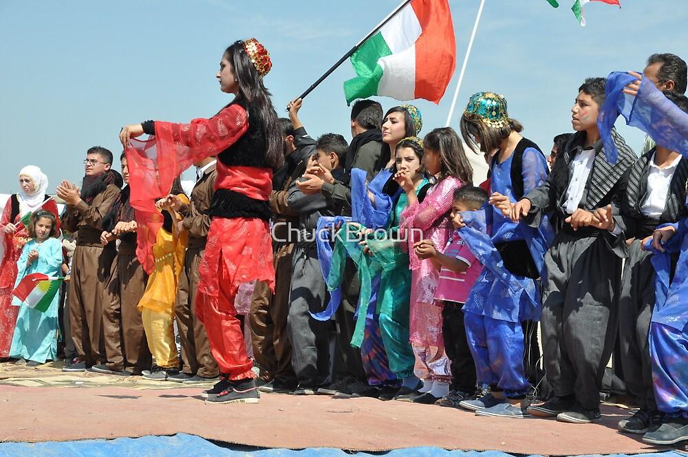 Spectators and dancer - Newroz-Qustapa_Syrian Refugee Camp_Arbil-KRG- 21-3-2104 by ChuckBrown