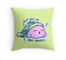 Kirby- 5 More Minutes Throw Pillow