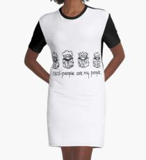 Nerd People Graphic T-Shirt Dress