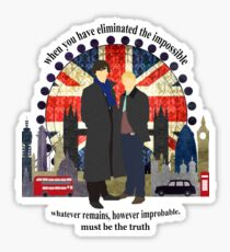 Eliminate the Impossible (Black Text) Sticker