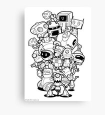 The Robots In My Mainframe Canvas Print