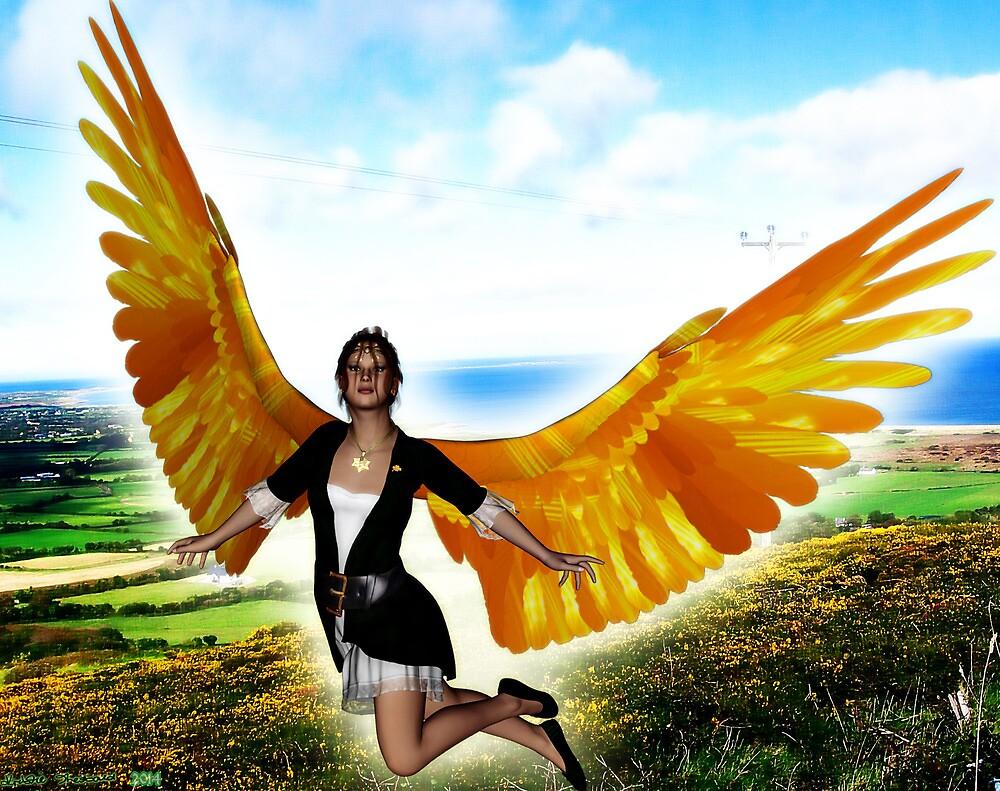Angel of Clare in Flight by Kristie Lawrence