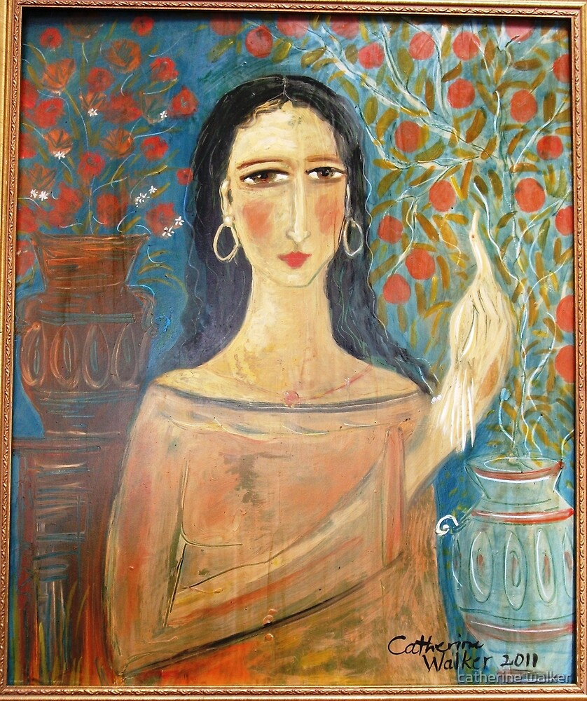 """"""" Lady with clay jars"""" by catherine walker"""