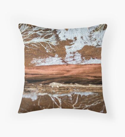 The wood draws trees - Reflecting the Nature it was Throw Pillow