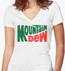 Mountain Dew Design Women's Fitted V-Neck T-Shirt