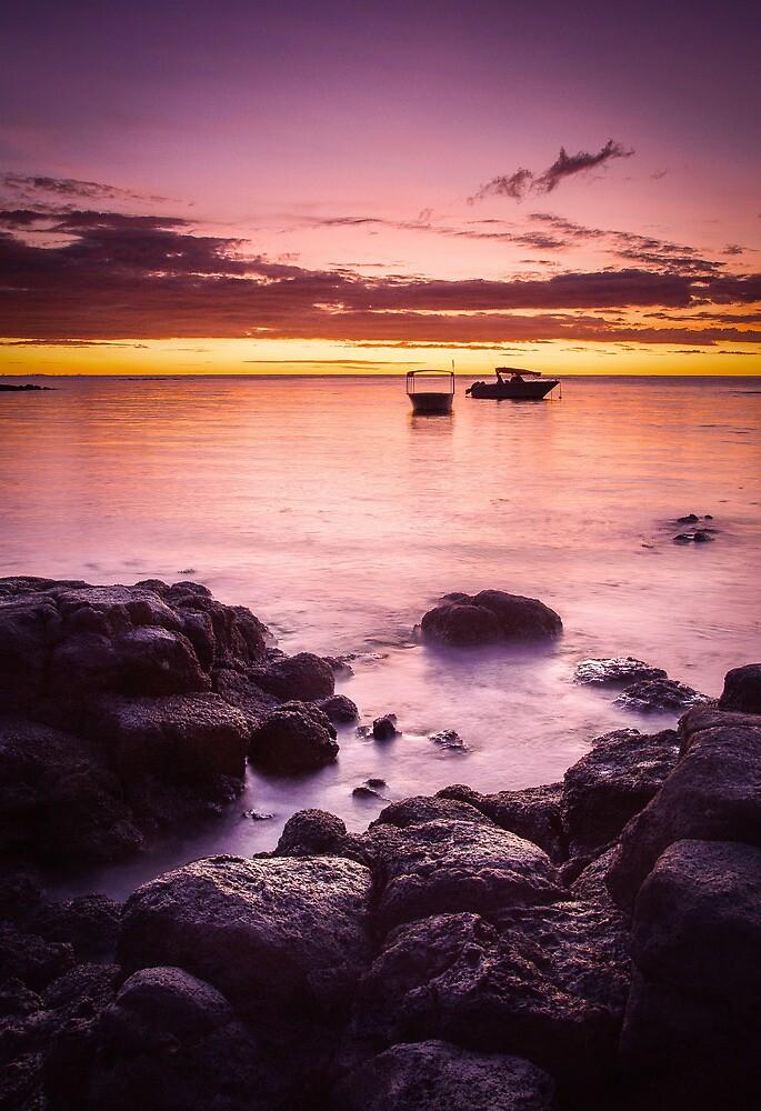 Sunset on Merville Beach by Oliver Koch