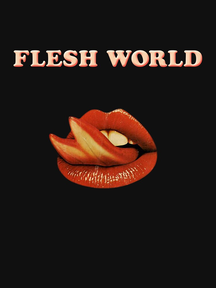Flesh World logo Tee by SynthSkin