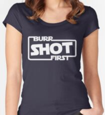 Burr Shot First Square Women's Fitted Scoop T-Shirt