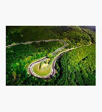 Aerial shot of the Nürburgring Nordschleife Caracciolla Karussell Photographic Print
