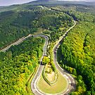 Aerial shot #3 of the Nürburgring Nordschleife Caracciola Karussell by BridgeToGantry