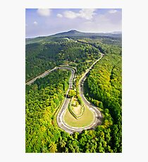 Aerial shot #3 of the Nürburgring Nordschleife Caracciola Karussell Photographic Print