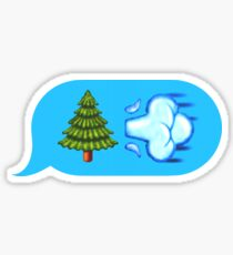 Blowing Trees Sticker