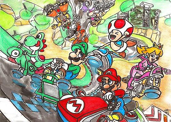 Super Mario Kart 8 by ceruleanmocha