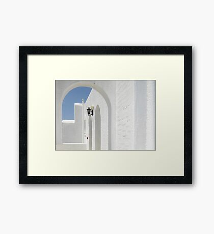 White with a hint of Blue Framed Print