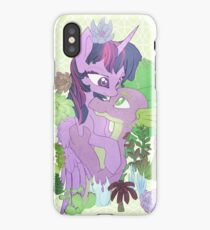 Twilight, Spike and Succulents (+ Background) iPhone Case
