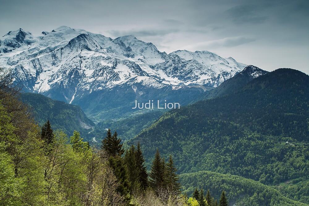 Mont Blanc from Plateau de Passy by Judi Lion