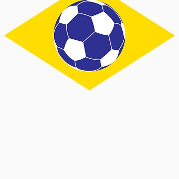Brazilian Football Flag by Skroll