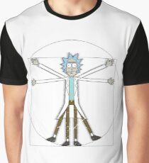 Vitruvian Rick Graphic T-Shirt