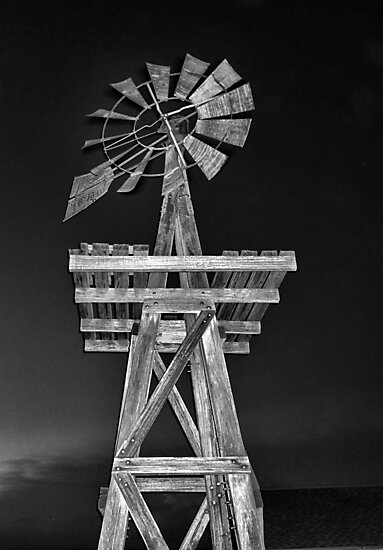 Eddy House Windmill BW by Robert Meyers-Lussier