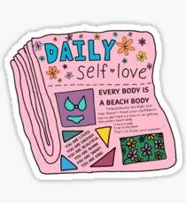 daily self love newspaper Sticker
