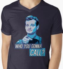 Who You Gonna Call? Ghostbusters! Men's V-Neck T-Shirt