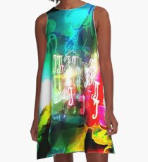 Abstract Raster 160 A-Line Dress