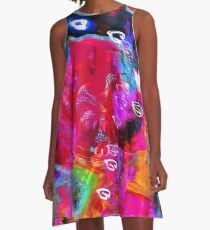 Abstract Raster 372 A-Line Dress