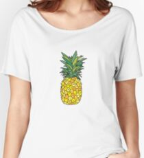 cute pineapple fruit Women's Relaxed Fit T-Shirt