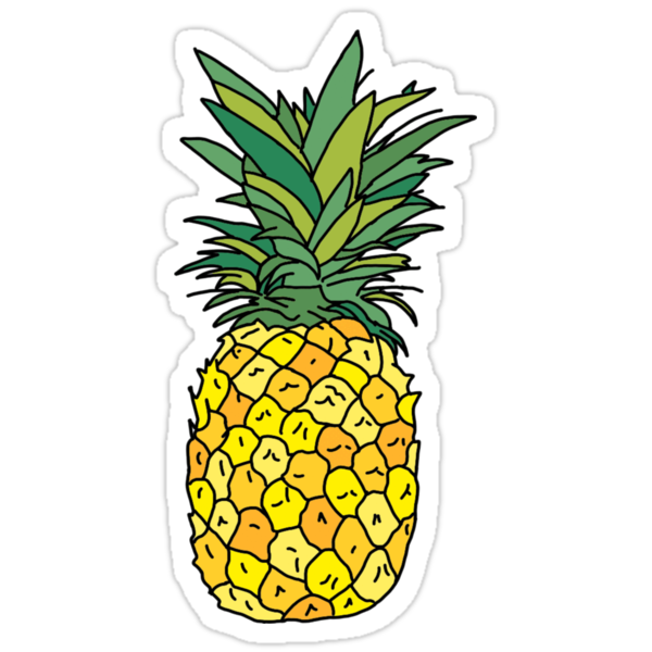 cute pineapple fruit stickers by andilynnf redbubble. Black Bedroom Furniture Sets. Home Design Ideas