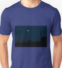 Kangaroos Silhouette with Full Moon in the Background Unisex T-Shirt
