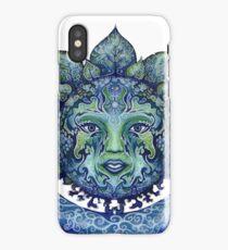 Blue Spiritual Sun and Moon iPhone Case/Skin